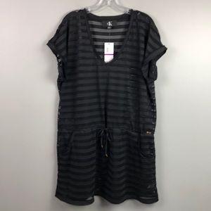 NWT Calvin Klein Bathing Suit Coverup Black XXL